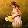 Flower S Basket by Natalia Tejera