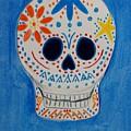 Flower Skull by Charla Van Vlack