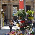 Flower Stand In Milan by Joe  Geare