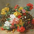 Flower Study by Eugene Henri Cauchois