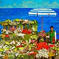 Flower Vendor In Sea Point by Michael Durst