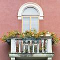 Flowered Italian Balcony by Lynn Andrews