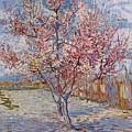 Flowering Peach Tree 1888 by Joy of Life Art Gallery - Vincent Van Gogh