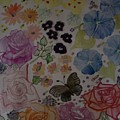 Flowers And Butterfly by Amy Elizabeth Macione