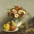 Flowers And Fruit 1865 by Henri Fantin Latour