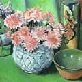 Flowers And Pottery by Ronald Dill