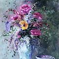 Flowers And Tea by Ellen Lerner ODonnell