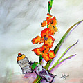 Flowers And Tubes Of Paint Still Life by Ginette Callaway