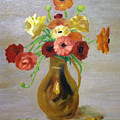 Flowers In A Pitcher -11 Yrs Old by Brian Wallace