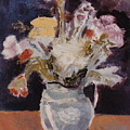 Flowers In A Pitcher by Ina Chomka