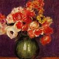 Flowers In A Vase 1901 by Renoir PierreAuguste