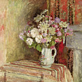 Flowers In A Vase by Edouard Vuillard