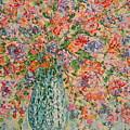 Flowers In Crystal Vase. by Leonard Holland