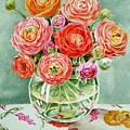 Flowers In The Glass Vase by Irina Sztukowski