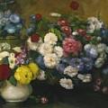 Flowers In Three Vases 1879 by DuboisPillet Albert