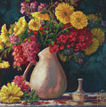 Flowers In Vase by Martin Stevers