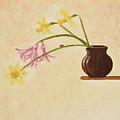 Flowers In Vase by Oleg Konin