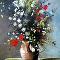 Flowers In Vase by RB McGrath
