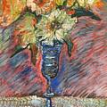 Flowers In Wine Glass by Katt Yanda