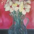Flowers Inside Glass Pitcher by Nima Honarbakht