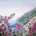 Flowers Of Positano Amalfi Coast  by Irina Sztukowski