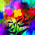 Flowers Of The I-magi-nation by Abstract Angel Artist Stephen K