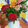 Flowers On A Cat Dish by Robert Thomaston