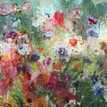 Flowers On Canvas by Yury Malkov