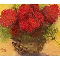 Flowers Red by Marlene Book