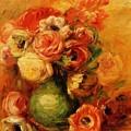 Flowers by Renoir PierreAuguste