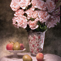 Flowers With Fruit Still Life by Tom Mc Nemar
