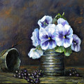 Flowers,pansies Still Life by Katalin Luczay