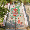 Flowery Stairs by Alain De Maximy