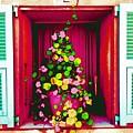 Flowery Window by Jean CHAR