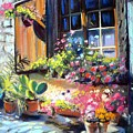 Flowery Window Of France by Louise Lavallee