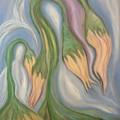 Flowing Onions by Michelle  Thomann-Ramirez