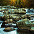 Flowing River On Greenbrier Cove Road Smoky Mountains National P by Carol Mellema