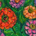 Flowing Zinnias by Kendall Kessler