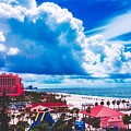 Fluffy Clouds Over Clearwater Beach by Pixabay