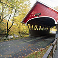 Flume Bridge Lincoln New Hampshire by George Oze