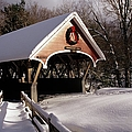 Flume Covered Bridge - Lincoln New Hampshire Usa by Erin Paul Donovan