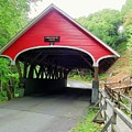 Flume Covered Bridge by Wayne Toutaint