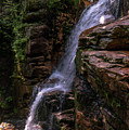 Flume Gorge Waterfall by Sherman Perry