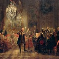 Flute Concert With Frederick The Great In Sanssouci by Adolph Menzel