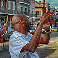 Flute Musician In New Orleans by Jennifer Stackpole