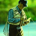 Fly Fisher II by Anthony J Padgett