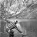 Fly Fishing In A Mountain Lake by Underwood Archives