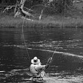 Fly Fishing In Black And White by Teresa Otto