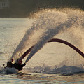 Flyboarder Only Showing Feet After Semi-circular Dive by Ndp
