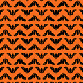 Flying Bats Pattern Black by MM Anderson